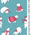 seamless, pattern, polar 26636218