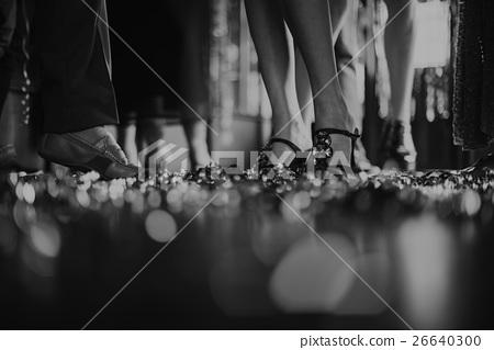 Stock Photo: Human Leg Dance Hall Party Recreation Concept