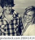 Couple Beach Cheerful Dating Destination Fun Concept 26641414