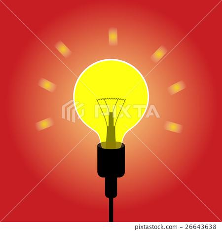 Lightbulb idea concept vector 26643638