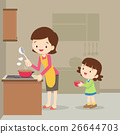 girl and mother cooking in the kitchen 26644703