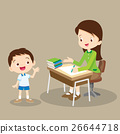 teacher working and talk with student 26644718