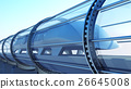 monorail futuristic train in tunnel. 3d rendering 26645008