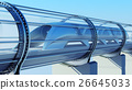 monorail futuristic train in tunnel. 3d rendering 26645033