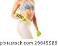 Crop female holding dumbbells 26645989