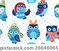 owl, seamless, vector 26646065