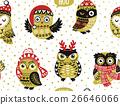 owl, seamless, vector 26646066