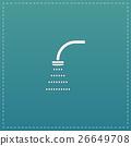 Shower flat icon 26649708