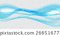 Abstract Blue Wave on  Background. Vector 26651677