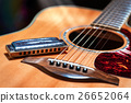 Acoustic guitar with blues harmonica country 26652064