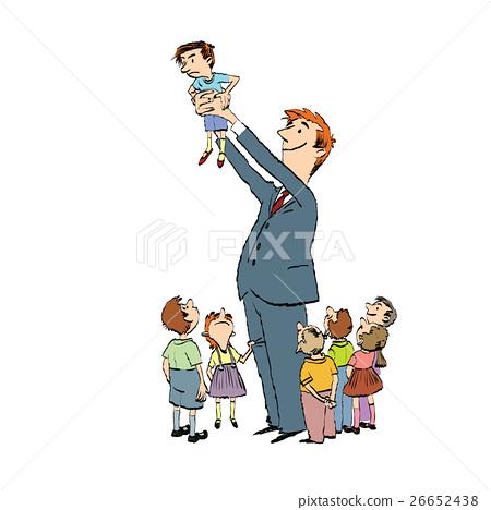 School teacher of elementary grades and children 26652438