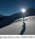 girl in off-piste skiing 26653854