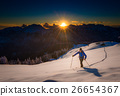 Ascending to the top. Ski mountaineering Cross country skiing al 26654367