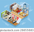 Interior Isometric Composition  26655683