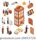Hotel Isometric Icons Set 26655726