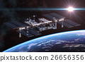 International Space Station Orbiting Earth 26656356