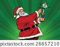 champagne, bottle, santa 26657210