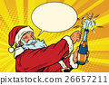 champagne, bottle, santa 26657211