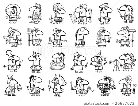 occupations set coloring page 26657672