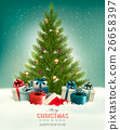 Christmas background with a Christmas tree 26658397