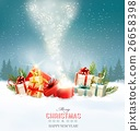 Christmas holiday background with presents  26658398