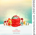 Holiday Christmas background with a sack 26658996