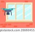 Drone, spy, vector 26660455