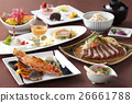 Meal of dried seafood and sushi in japanese st 26661788