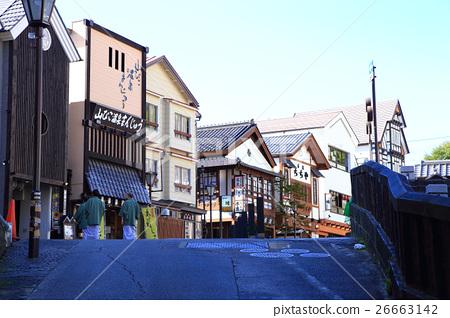 Scenery of Kusatsu Onsen spa resort 26663142