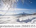 Japan travel,mt fuji and snow at Kawaguchiko lake 26665355