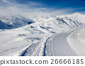 Alpine winter mountain landscape. 26666185