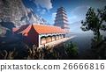 Sun temple - Buddhist shrine in the Himalayas 3d 26666816