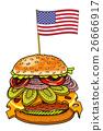 hamburger, cheese, burger 26666917