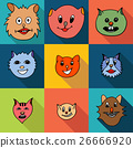 Set of cats icons 26666920