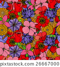 Seamless floral background. 26667000