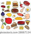 Colorful vector hand drawn food 26667134
