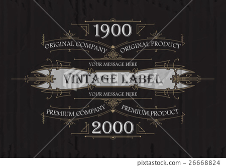 Vintage typographic label premium - vector 26668824