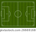 Vector illustration of a football field 26669168