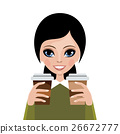 Woman from coffee 26672777