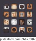3d instrument icon 26672987