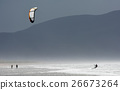 Kite Surfer in the Waves at the Coast of Ireland 26673264