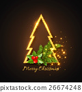 Christmas design, abstract gold fur-tree 26674248