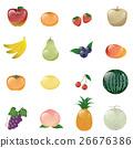 矢量 一組 水果 26676386