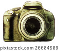watercolor camera isolated on white background 26684989