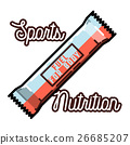 Color vintage sports nutrition emblem 26685207