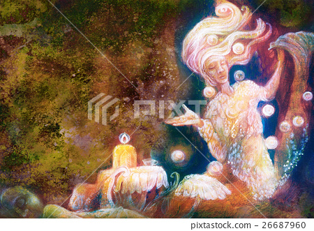 magical radiant fairy spirit in forest dwelling 26687960