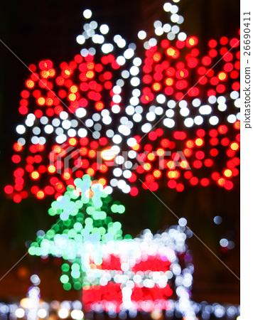 失焦的霓虹燈 26690411