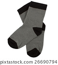 Pair of socks. Isolated on white. Clipping paths 26690794