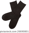 Pair of socks. Isolated on white. Clipping paths 26690801