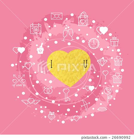 Happy Valentine's day with Valentine's day 26690992